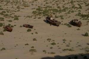 Schiffsfriedhof am ausgetrockneten Aralsee