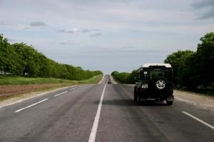 Auf dem Weg zur ungarischen Grenze